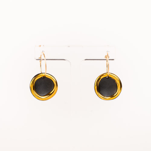 Halo Earrings, Matt black