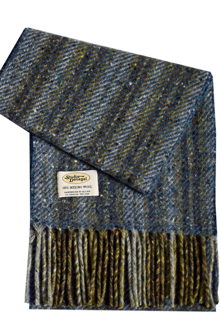 Merino Scarf, Denim