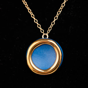 Halo Necklace, midnight blue