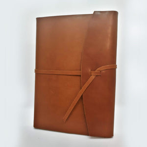 Tan Soft Leather Wrap Journal