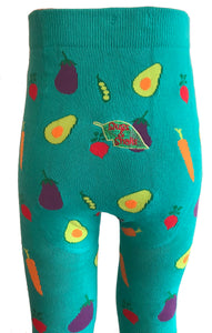 Organic cotton Tights, Veggie (0-6mths / 6-12mths)