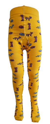 Organic Cotton Tights, Cats (2-3/4-5 / 5-6 yrs)