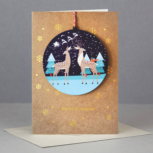 Reindeer Decoration Christmas Card