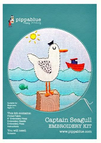 Embroidery Kit - Captain Seagull