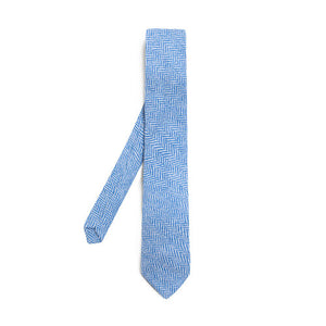 Donegal Tweed Tie - Stippled Cornflower
