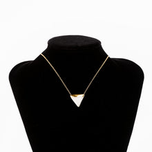 White and Gold Triangle Necklace