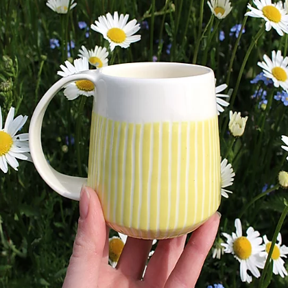 Sunshine Stripe Coffee Cup