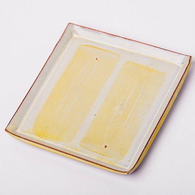 Biscuit Plate, Yellow