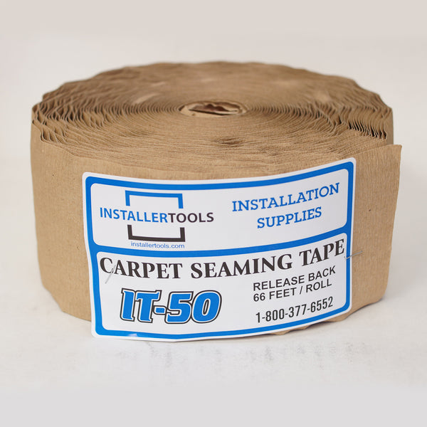 "4"" Wide x 66' Long Roll - 11 Bead Release Back Carpet Seam Tape"