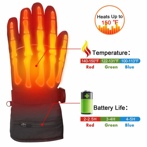 Electric Rechargeable Heated Gloves - Tesla's Secret Lab