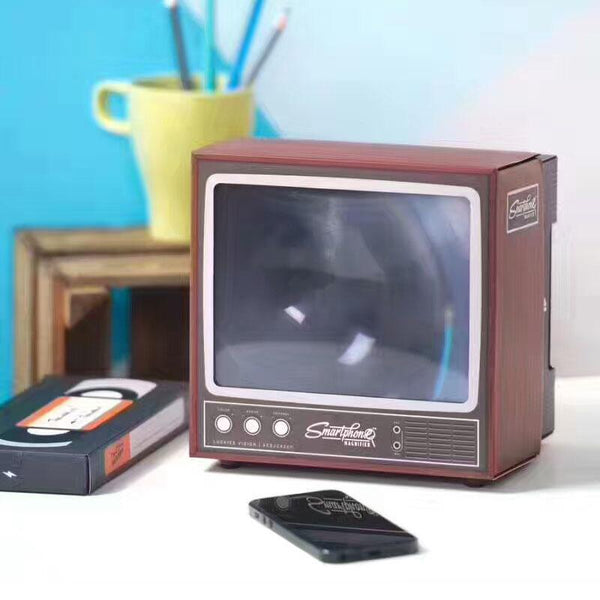 Phone Screen Magnifier - Retro TV style - Tesla's Secret Lab