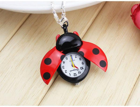 Ladybug Keychain Pocket Watch - Tesla's Secret Lab