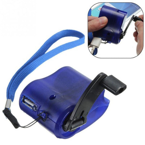 Emergency Portable  Hand Crank USB Charger