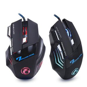 Professional Wired Gaming Mouse 7 Button 5500 DPI LED