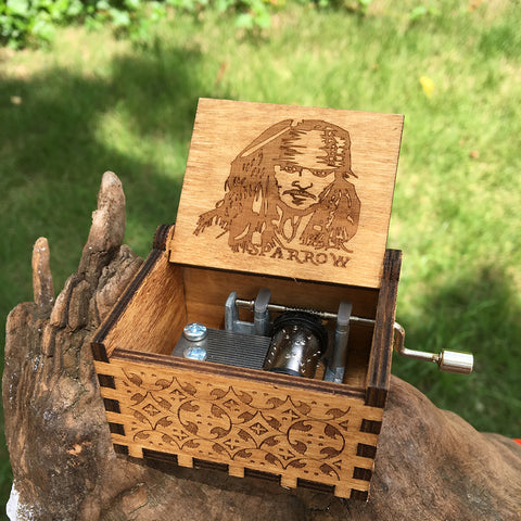 Wooden Music Box Jack Sparrow