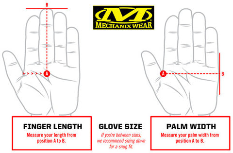 Mechanix Size Guide