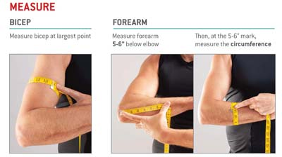 G-Form Elbow Pad Measure Guide