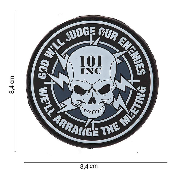 3D PVC 101 Inc God Will Judge Patch | UKMCPro
