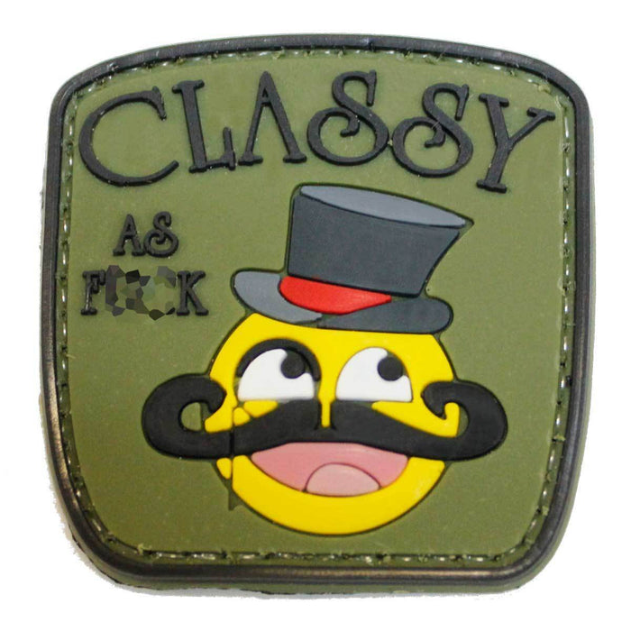 3D PVC Classy as F**k Smiley Face Morale Patch | UKMCPro