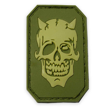 3D PVC Devil Face Rubber Patch | UKMCPro