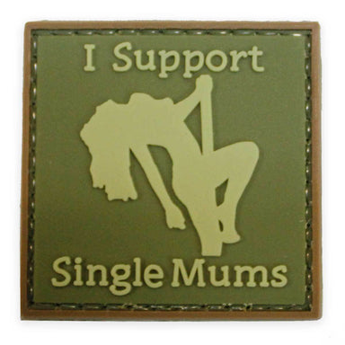 3D PVC I Support Single Mums Patch | UKMCPro