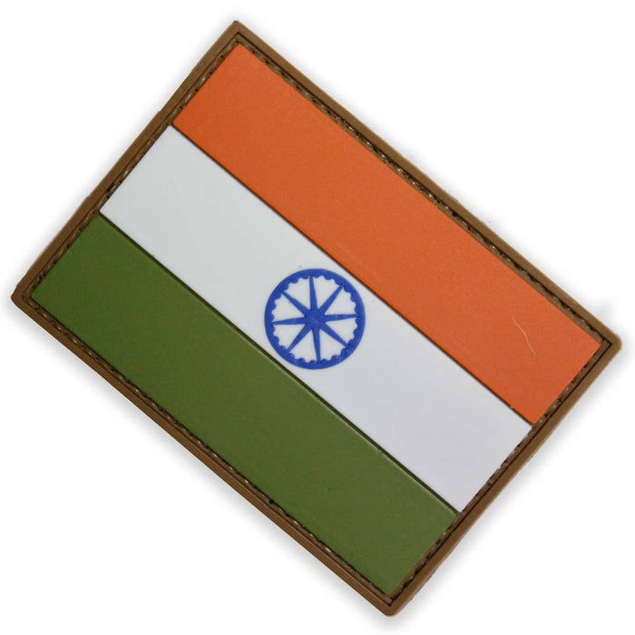 3D PVC India National Flag Patch | UKMCPro