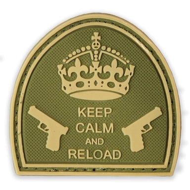3D PVC Keep Calm & Reload Patch | UKMCPro