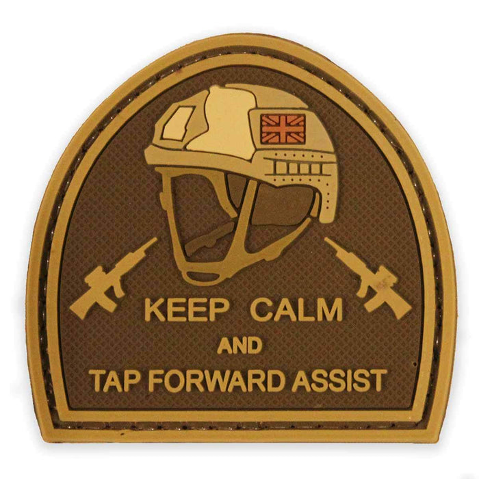 3D PVC Keep Calm & Tap Forward Assist Morale Patch | UKMCPro