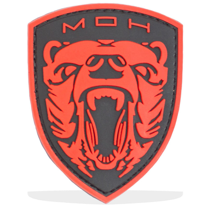 3D PVC MOH Grizzly Bear Patch | UKMCPro