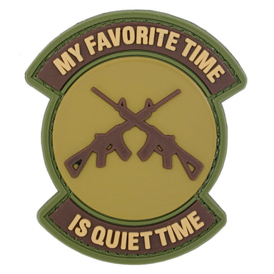 3D PVC My Favourite Time is Quiet Time Patch | UKMCPro
