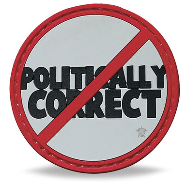 3D PVC Not Politically Correct Patch | UKMCPro