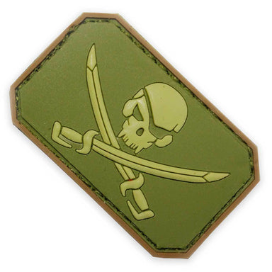 3D PVC Pirate Skull & Crossed Swords Morale Patch | UKMCPro