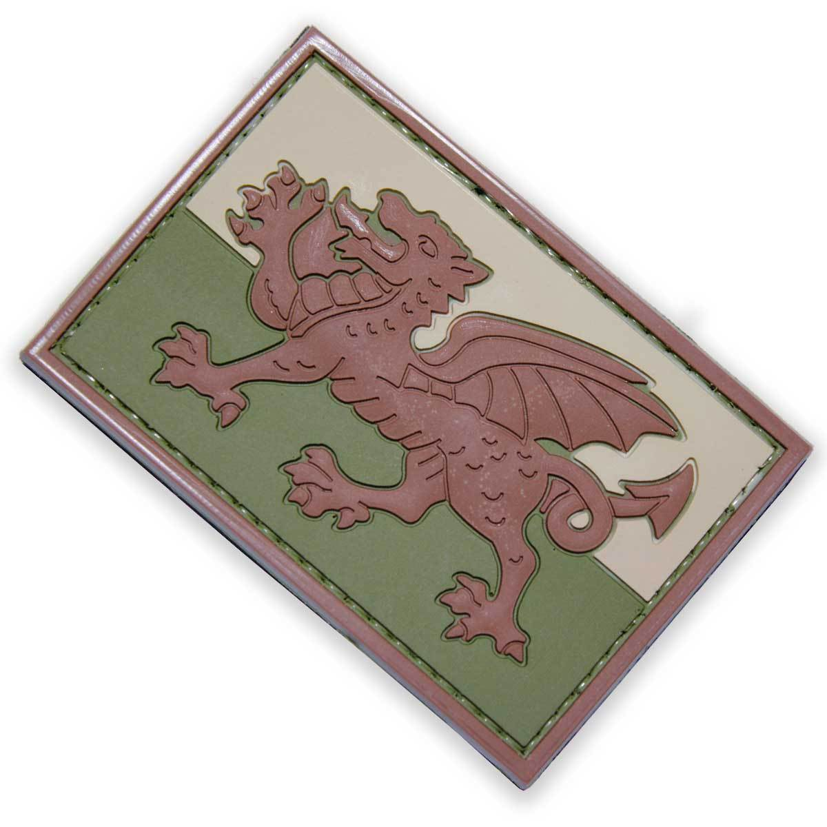 3D PVC Welsh Dragon Patch | UKMCPro