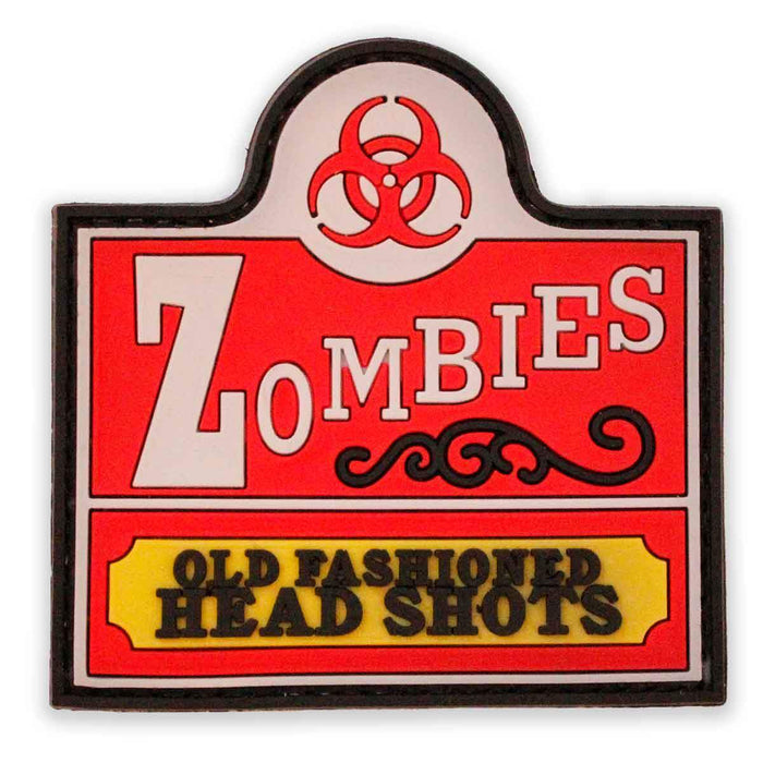 3D PVC Zombie Head Shots Patch | UKMCPro