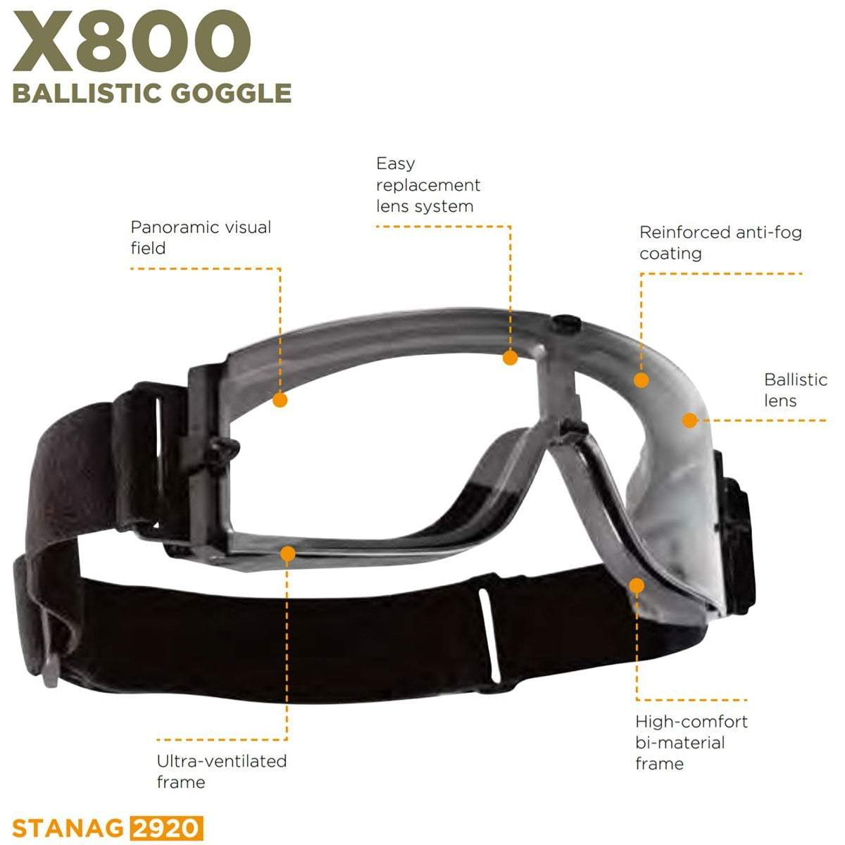 Bolle Tactical X800 Goggles | UKMCPro