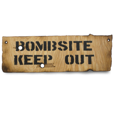 Bombsite Keep Out Wooden Warning Sign | UKMCPro