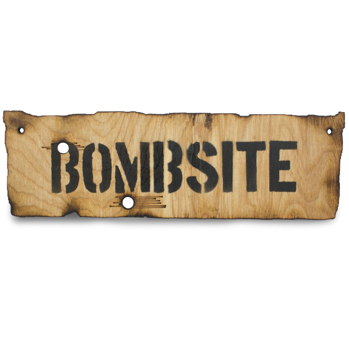 Bombsite Wooden Warning Sign | UKMCPro