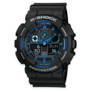 Casio G-Shock Men's GA-100-1A2ER Combi Watch | UKMCPro