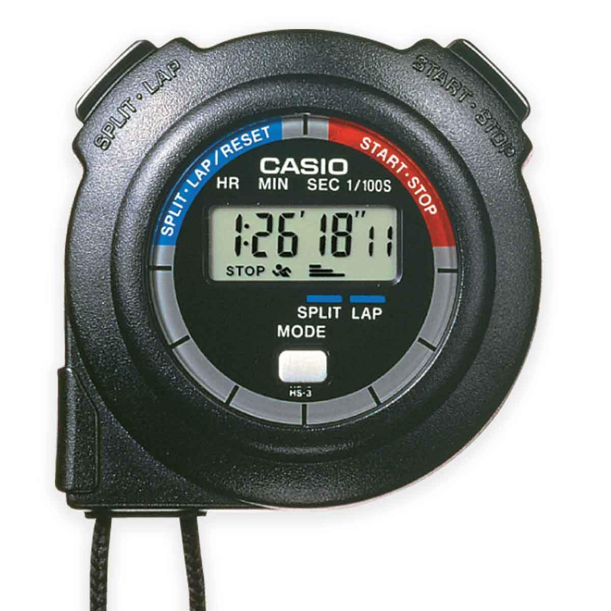 Casio HS-3V-1R Handheld Digital Stopwatch Timer | UKMCPro
