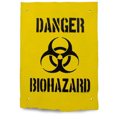 Danger Biohazard Wooden Warning Sign | UKMCPro