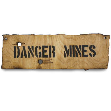 Danger Mines Wooden Warning Sign Small | UKMCPro
