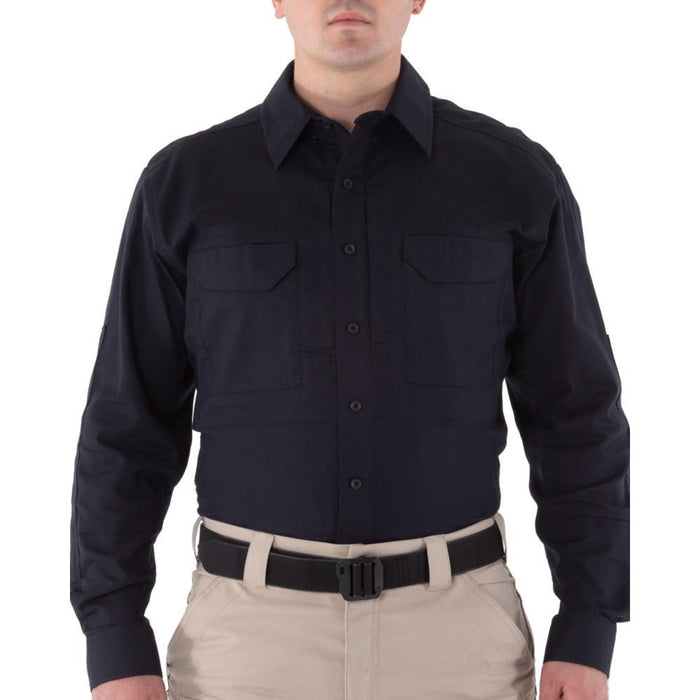 First Tactical Men's V2 Tactical Long Sleeve Shirt Midnight Navy | UKMCPro