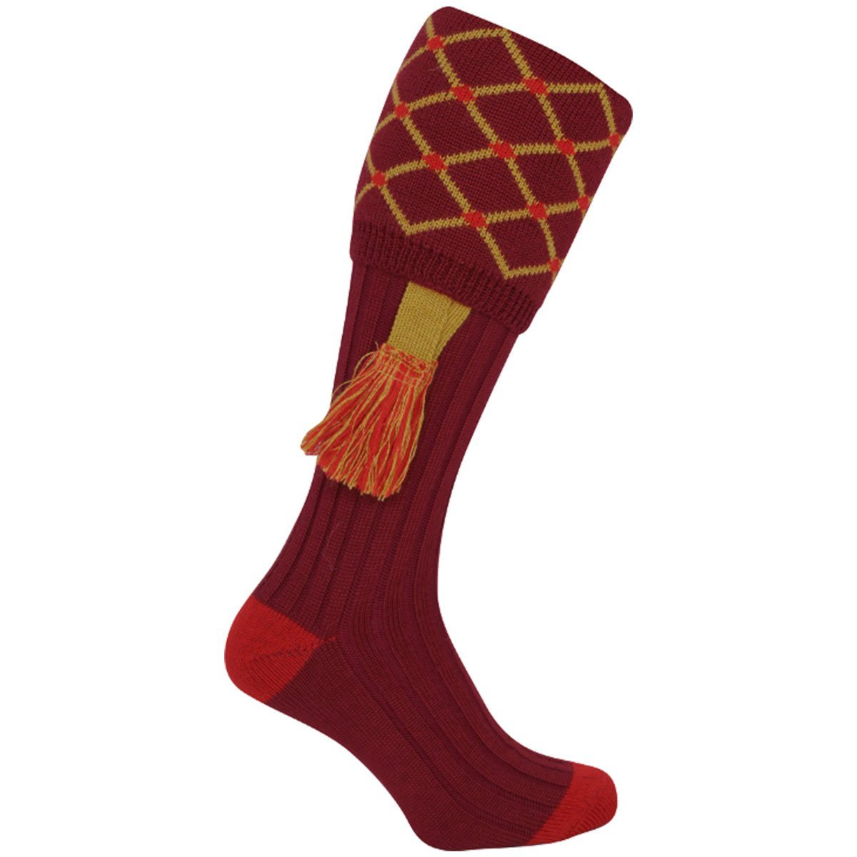 Jack Pyke Diamond Shooting Socks Burgundy | UKMC Pro