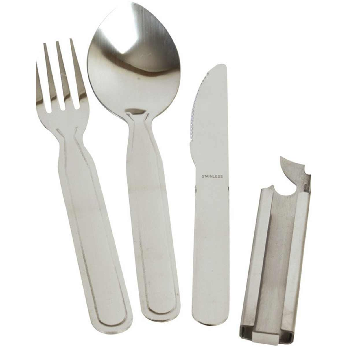 KOMBAT NATO KFS SET | Stainless Steel Camping Knife Fork Spoon Kit