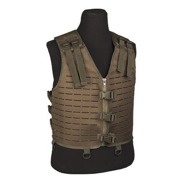 Mil-Tec Lightweight Laser Cut MOLLE Vest Green | UKMCPro