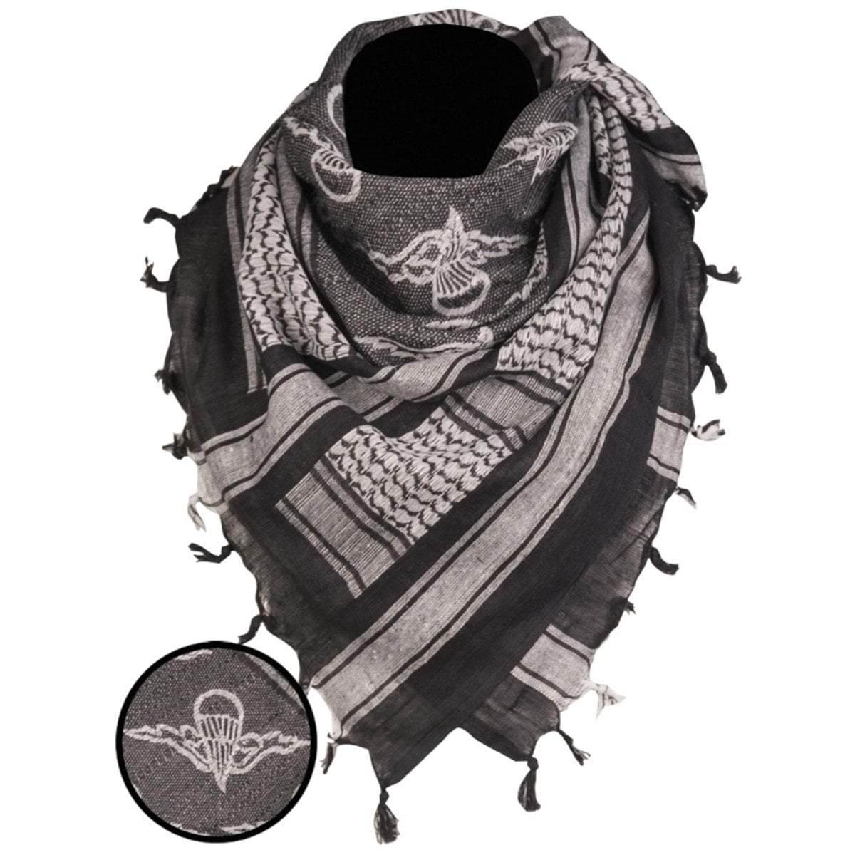 Mil-Tec Paratrooper Shemagh Scarf Black | UKMC Pro