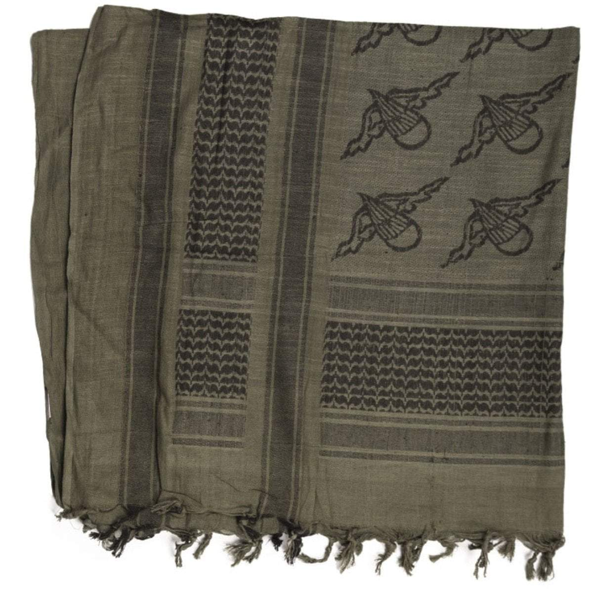 Mil-Tec Paratrooper Shemagh Scarf Green | UKMC Pro