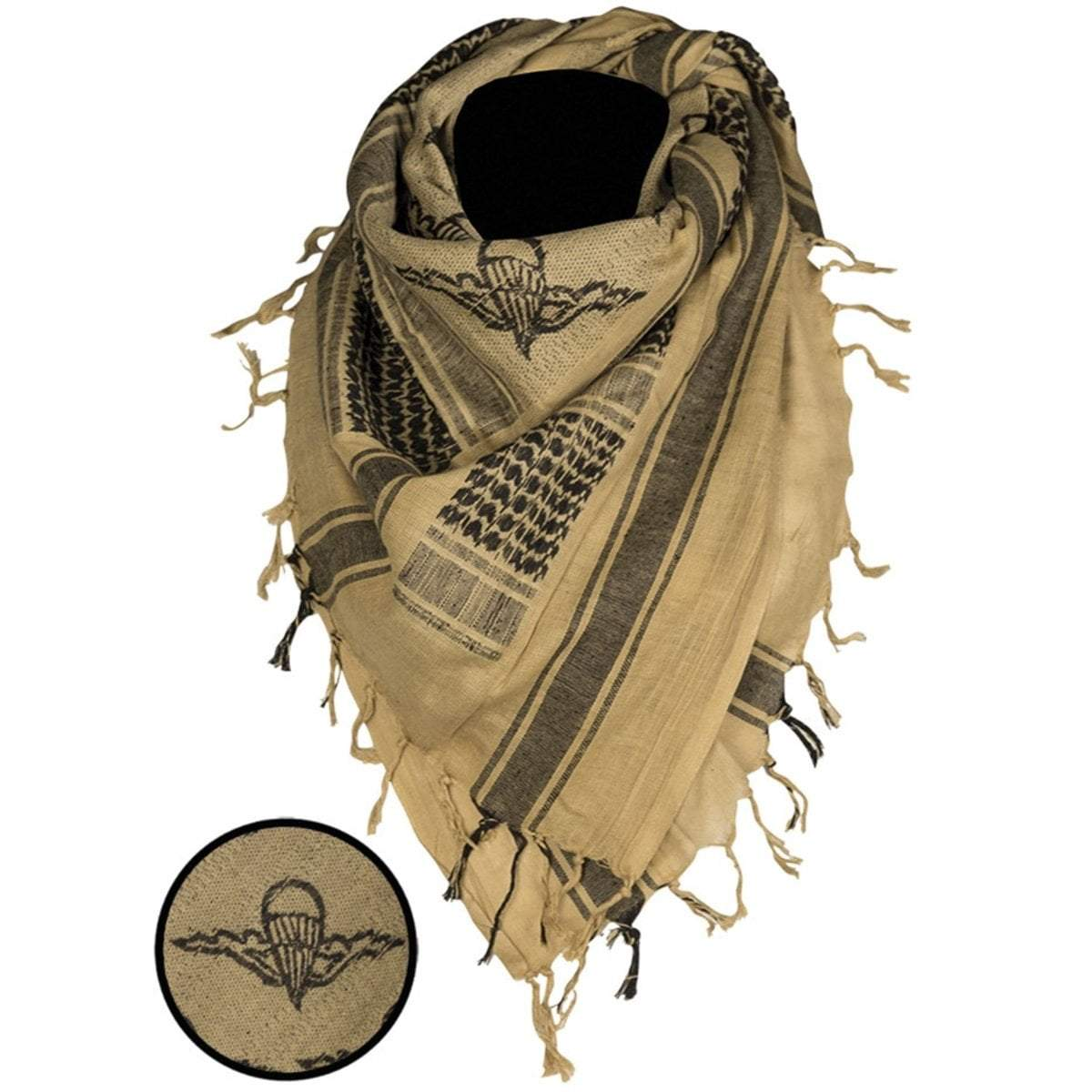 Mil-Tec Paratrooper Shemagh Scarf Coyote | UKMC Pro