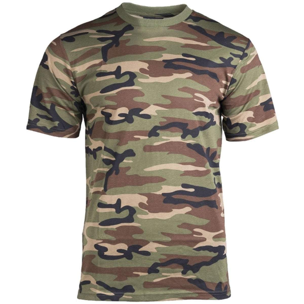 Mil-Tec Short Sleeve T-Shirt US Woodland Camo | UKMCPro