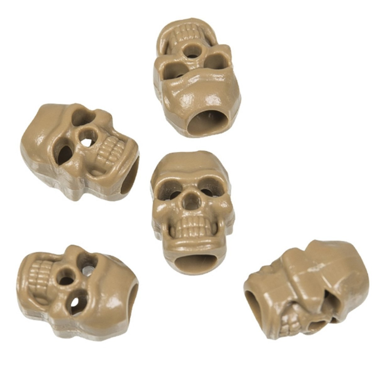 Mil-Tec Skull Shaped Cord Stoppers (Pack of 10) | UKMCPro